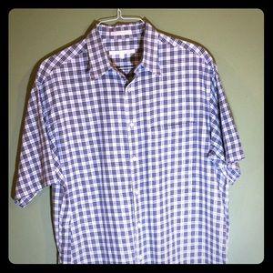 Perry Ellis cotton shortsleeve shirt Large